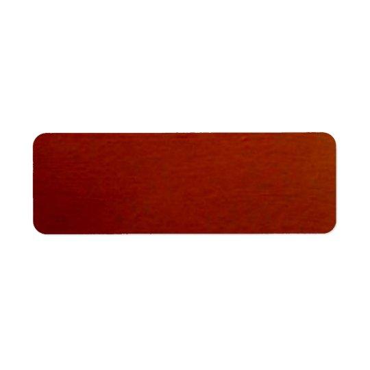 Burnt Orange Solid Lable