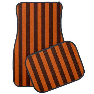 Burnt Orange Stripes Retro Style Customize This! Car Liners