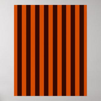 Burnt Orange Stripes Retro Style Customize This! Print