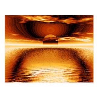 Burnt Orange Sunset Storm Postcard