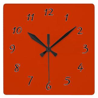 Burnt Orange Template Square Wall Clock