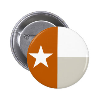 Burnt Orange Texas Flag Button