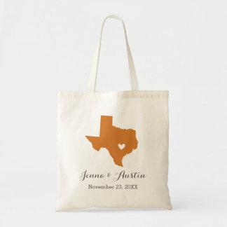 Burnt Orange Texas Wedding Welcome Tote Bag