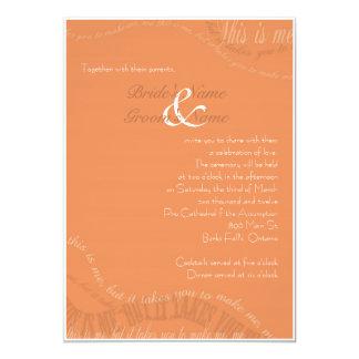 Burnt Orange Wedding Invitation
