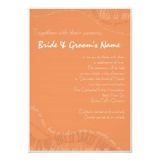 Burnt Orange Wedding Invitation