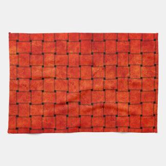 Burnt Orange Woven Together Kitchen Towel