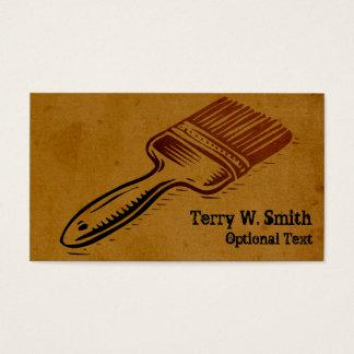 Burnt Paint Brush Business Card