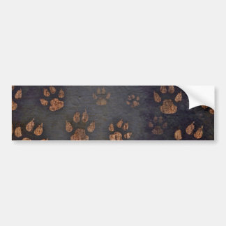 Burnt Paw Prints Bumper Sticker