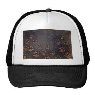 Burnt Paw Prints Trucker Hat