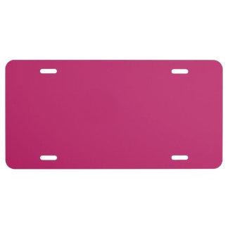 Burnt Pink Aluminum License Plate