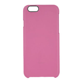 Burnt Pink Clear iPhone 6/6S Case