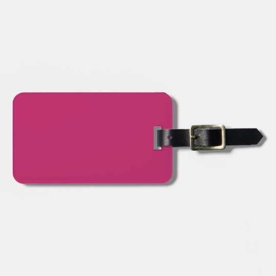 Burnt Pink Luggage Tag