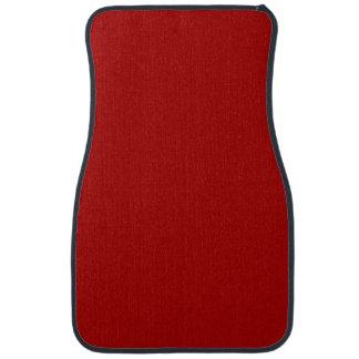 Burnt Red Solid Color Car Carpet