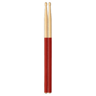 Burnt Red Solid Color Drumsticks