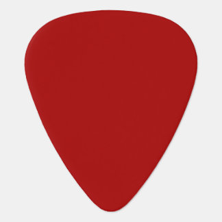 Burnt Red Solid Color Guitar Pick