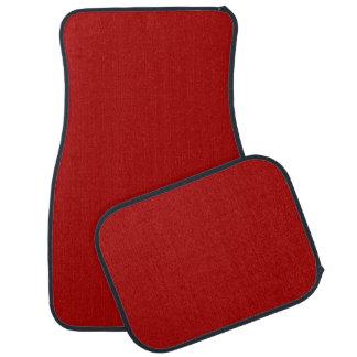 Burnt Red Solid Color Floor Mat