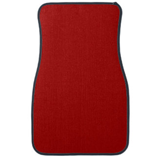 Burnt Red Solid Color Car Mat