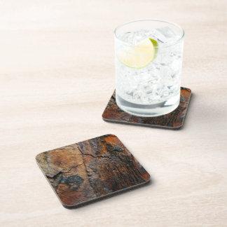 BURNT SEQUOIA TREE BARK DETAIL DRINK COASTER