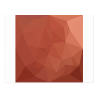 Burnt Sienna Orange Abstract Low Polygon Backgroun Postcard