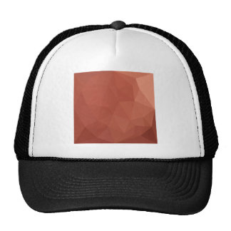 Burnt Sienna Orange Abstract Low Polygon Backgroun Trucker Hat