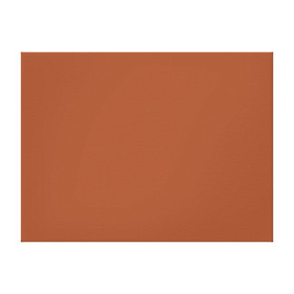 Burnt Sienna Solid Color Gallery Wrapped Canvas