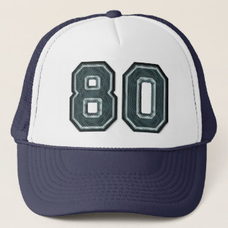 Burnt Teal Number 80 Trucker Hat