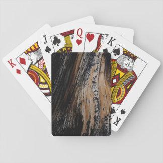 Burnt Tree Bark Poker Deck