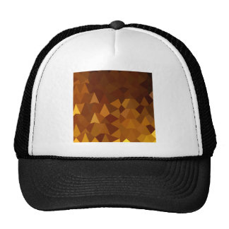 Burnt Umber Brown Abstract Low Polygon Background Trucker Hat