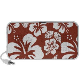 Burnt Umber Tropical Hibiscus Travelling Speaker