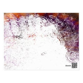 Burnt Water Droplets Postcard