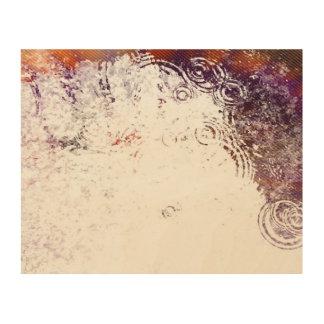 Burnt Water Droplets Wood Print