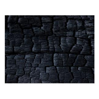 Burnt Wood Faux Texture Postcard