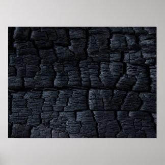 Burnt Wood Faux Texture Print