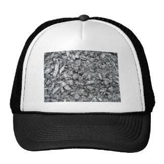 Burnt wood remain texture trucker hat