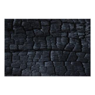 Burnt Wood Texture Art Photo