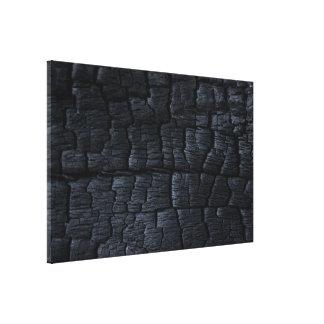 Burnt Wood Texture Canvas Print