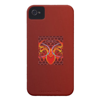 BURNTORANGE0CTOPUS ART iPhone 4 Case-Mate CASES