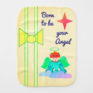 Burp Cloth : Born to be your Angel