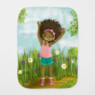 Burp Cloth for African-American baby girl