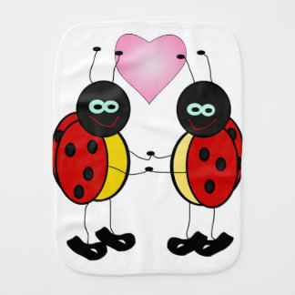 Burp Cloth - Lady Bugs