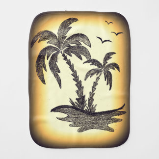 Burp Cloth With Palm Trees.