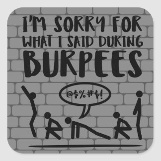 Burpees Apology Brick Stickers