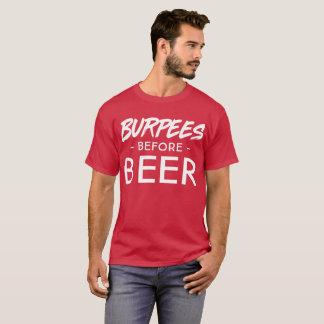 Burpees Before Beer fun beer drinker graphic T-Shirt