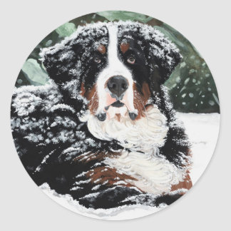Burr Round Sticker