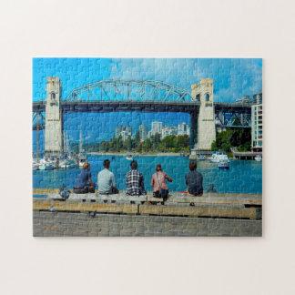 Burrard Street Bridge Vancouver. Jigsaw Puzzle