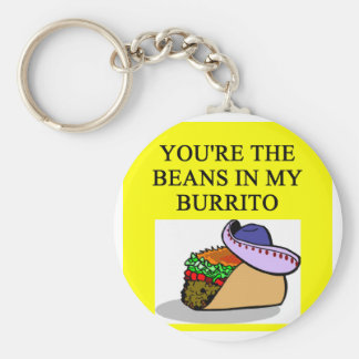 BURRITO and beans lover Keychain