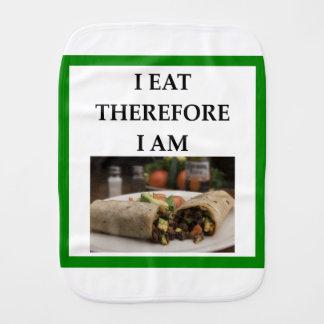 burrito burp cloth