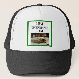 burrito trucker hat