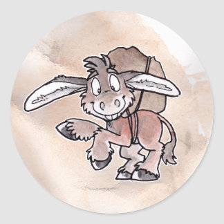 Burro Classic Round Sticker