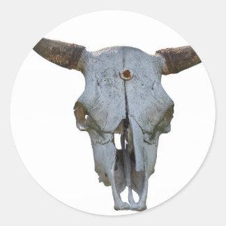burro in the farm classic round sticker